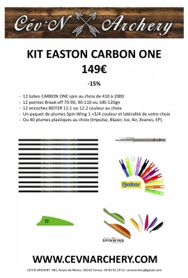 KIT FLÈCHES EASTON CARBON ONE