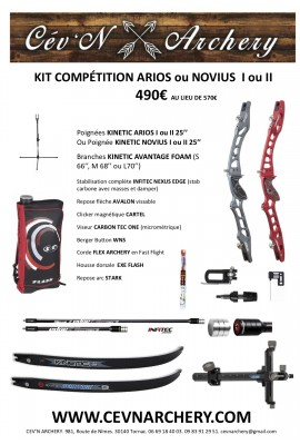 KIT ARC COMPÉTITION KINETIC ARIOS NOVIUS